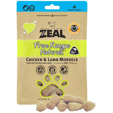 Zeal Freeze Dried Chicken & Lamb for Cats 100g