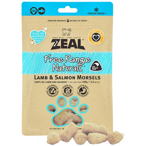Zeal Freeze Dried Lamb & Salmon for Cats 100g
