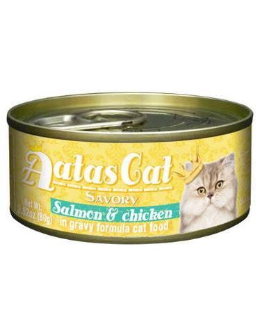 Aatas Cat Savory Salmon & Chicken 80g 24 Cans