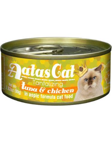 Aatas Cat Tantalizing Tuna & Chicken 80g 24 Cans