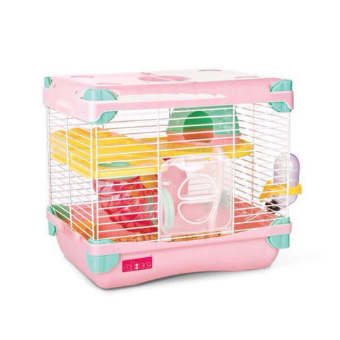 Alice Adventure Land Single Deck Hamster Cage Pink