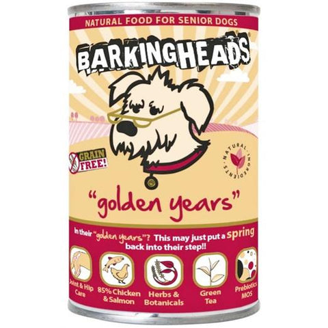 Barking Heads Canned Food Golden Years Chicken & Salmon 400g