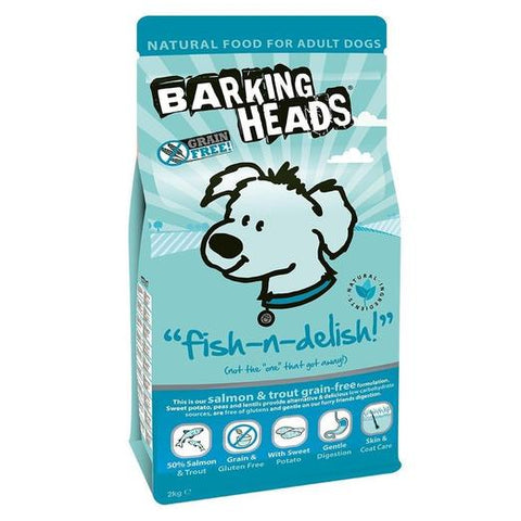 Barking Heads Head Fish and Delish Grain Free 2kg