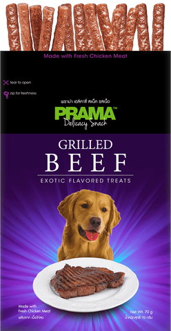 3 Packs of Prama Delicacy Snack Grilled Beef 70g
