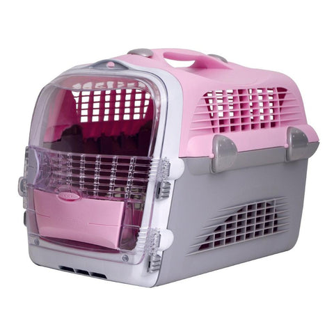 Catit Design Cabrio Cat Multi-Functional Carrier System Pink Grey