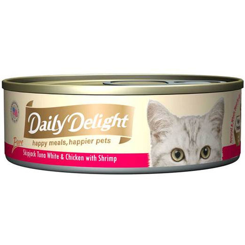 Daily Delight Skipjack Tuna White & Chicken with Shrimp 80g x24