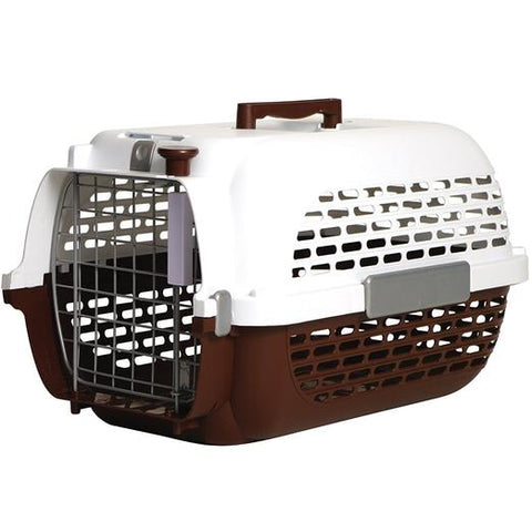 Dogit Voyageur Pet Carrier Brown & White