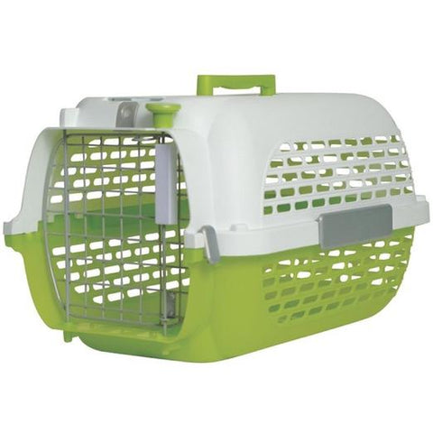 Dogit Voyageur Pet Carrier Green & White