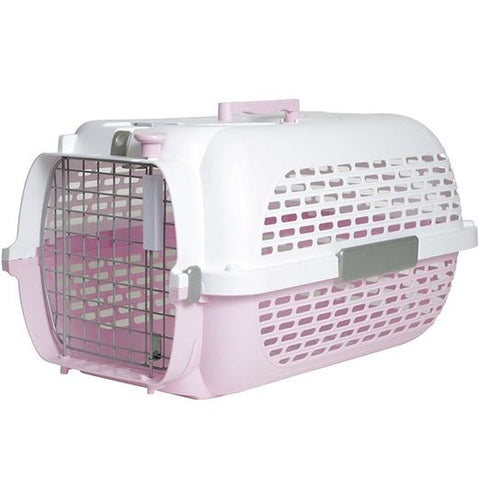 Dogit Voyageur Pet Carrier Pink & White
