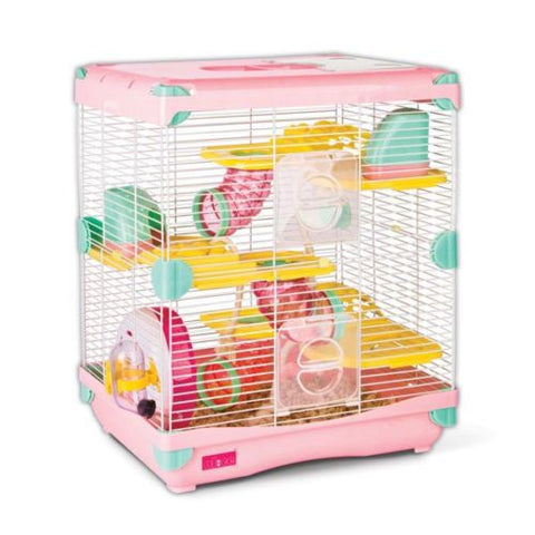 Alice Adventure Land (Double Deck) Hamster Cage Pink