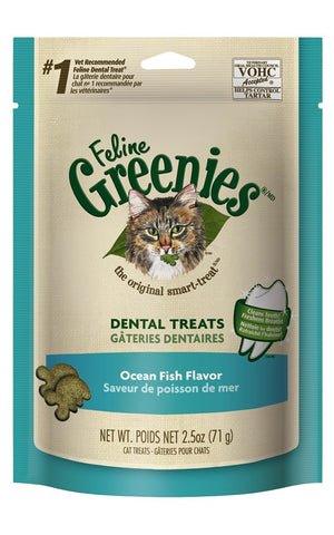 Greenies Cat Dental Treats - Ocean Fish Flavor 2.5oz