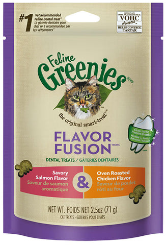 Greenies Cat Dental Treats - Chicken & Salmon Flavor 2.5oz