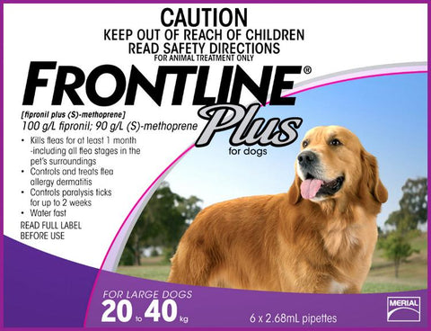 Frontline Plus for Dogs 20-40kg 6 Doses