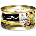 Fussie Cat Premium Tuna With Clams In Aspic Cat Food 80g 1 Carton (24 Cans)