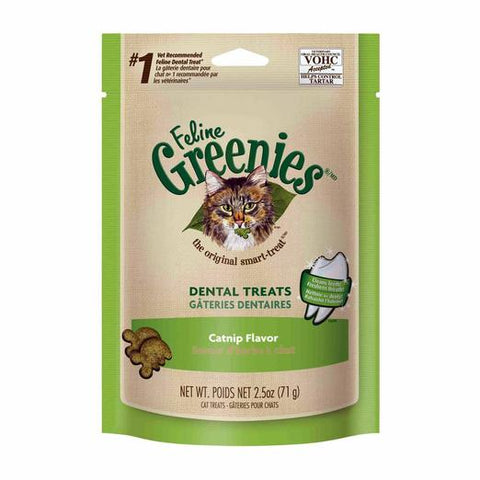 Greenies Cat Dental Treats - Catnip Flavor 2.5oz