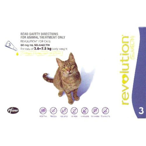 Revolution Spot-On for Cats 2.6-7.5kg 3 Doses