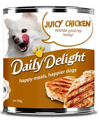 Daily Delight Juicy Chicken 700g x6