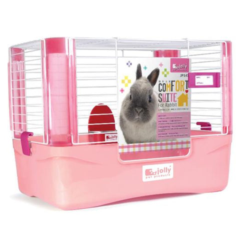 Jolly Pet Comfort Suite Rabbit Cage Pink (Medium)