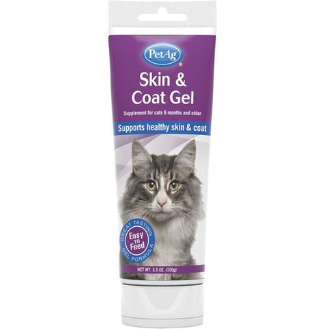 PetAg Skin & Coat Gel Cat Supplement 3.5oz
