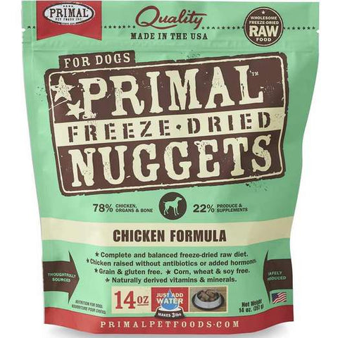 Primal Freeze-dried Chicken Dog Food 14oz
