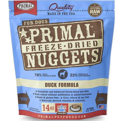 Primal Freeze-dried Duck Dog Food 14oz