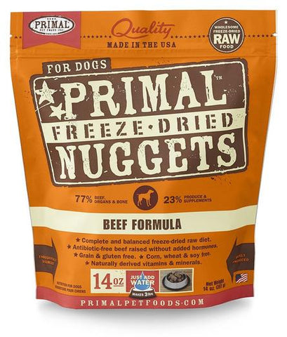 Primal Freeze-dried Beef Dog Food 14oz