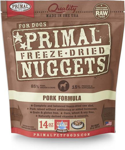 Primal Freeze-dried Pork Dog Food 14oz