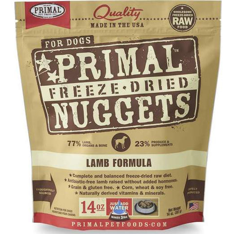 Primal Freeze-dried Lamb Dog Food 14oz