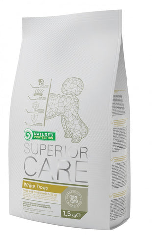 Nature's Protection Superior Care for Small and Mini Breed Adult Dogs with White Coat 1.5kg