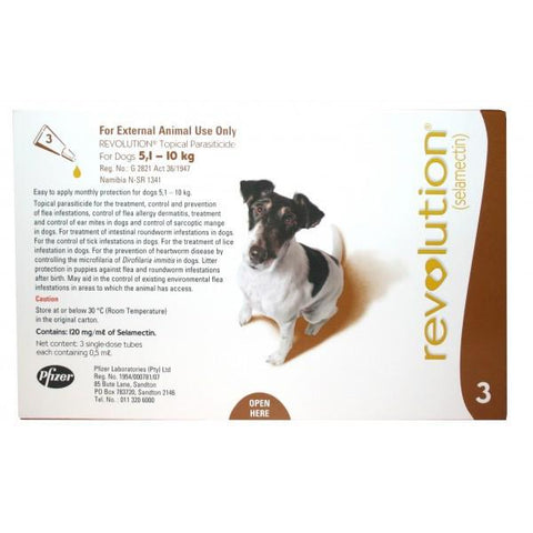 Revolution Spot-On for Dogs 5-10kg 3 Doses