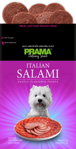 3 Packs of Prama Delicacy Snack Italian Salami 70g