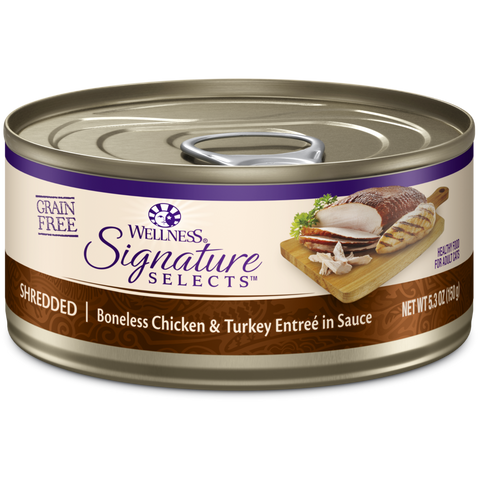 Wellness CORE Signature Selects Shredded Chicken & Turkey Canned Cat Food
