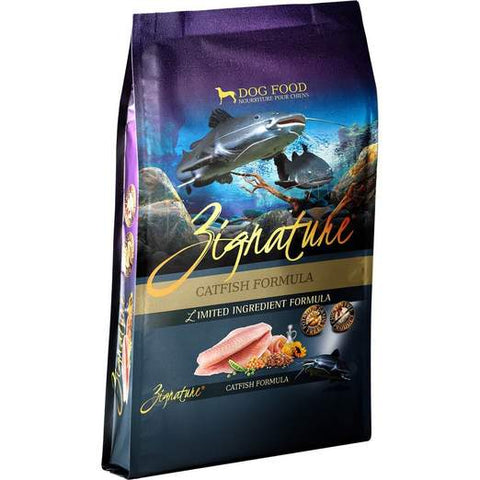 Zignature Catfish Formula Dry Dog Food 4lbs