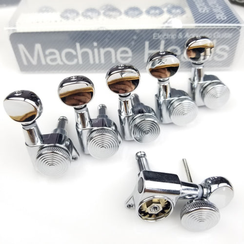 Jinho Locking Tuners JN-07SP Mini Oval Buttons Chrome