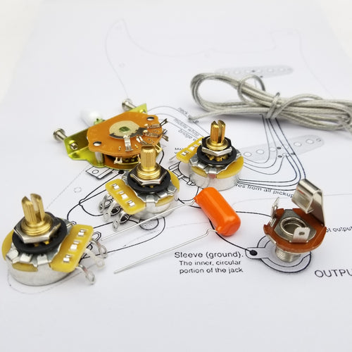 CTS 250K Brass Shaft Wiring Kit for-Stratocaster