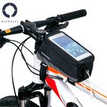 "ROSWHEEL Cycling Bicycle Bike Cell Mobile Phone Front Frame Tube Storage Bag Pannier Case Holder for 5.7"" Screen Phones"