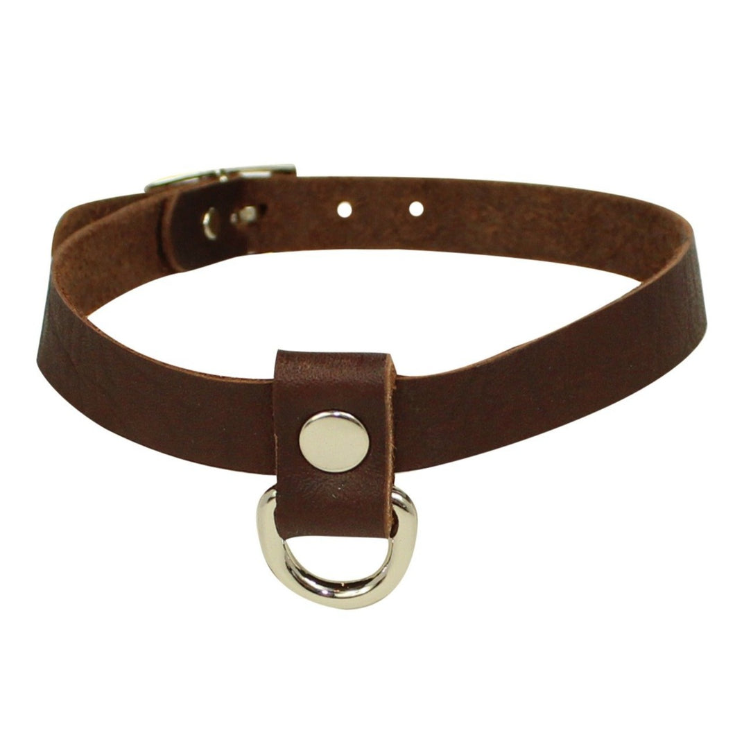 Dee Choker Brown Silver