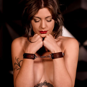 Bondage Brown Leather - Silver