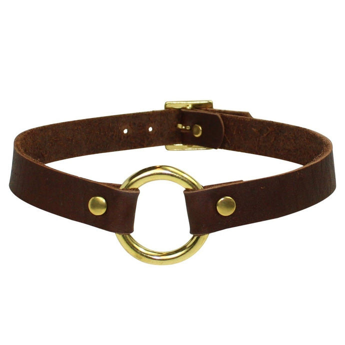 Choker Brown -Gold
