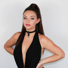 Load image into Gallery viewer, Bondage Dee Collar Black-Silver