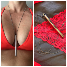 Load image into Gallery viewer, Vibrator Necklace Silver- Multi Function, Quiet, Elegant