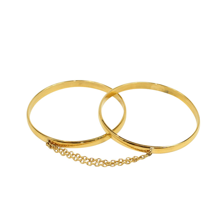 Handcuff Bangles 18k gold - Chain