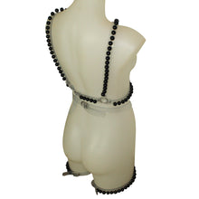 Load image into Gallery viewer, Pearl Harness set black pearls