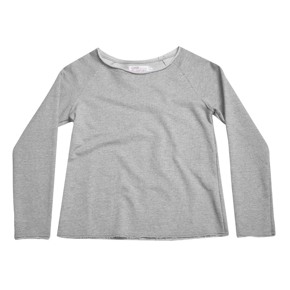 tween jersey silver pull over