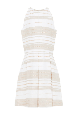 Eloise dress in gold stripe