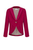 Velvet riding jacket in Cherry