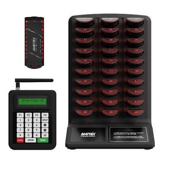 Customer Paging System Matrix - 30 Matrix Pagers