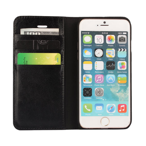 Luxury Genuine Leather Wallet Flip Case Cover For iPhone 6 Plus / 6s Plus (9)