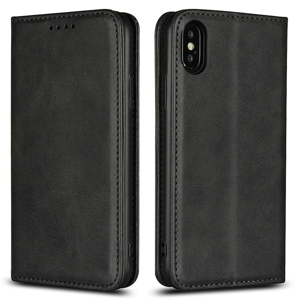 Leather Phone Cases Flip Wallet Case Cover For iPhone X