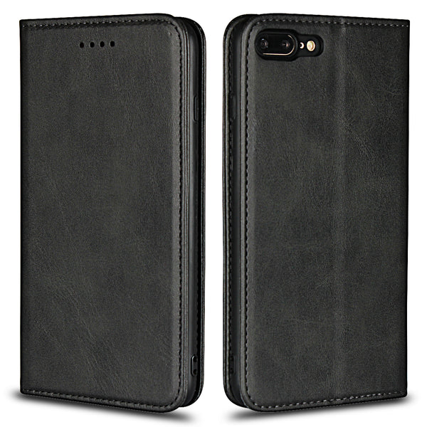 Leather Phone Cases Flip Wallet Case Cover For iPhone 8 Plus / 7 Plus